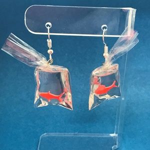 Jewelry - 3 for $25:  Goldfish in a Bag 3D Earrings